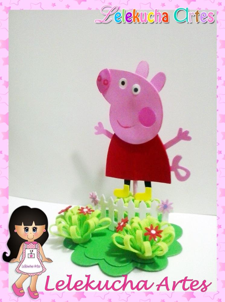 Centro de mesa peppa pig peppa decorcao de festa jpg car for Mesa de peppa pig