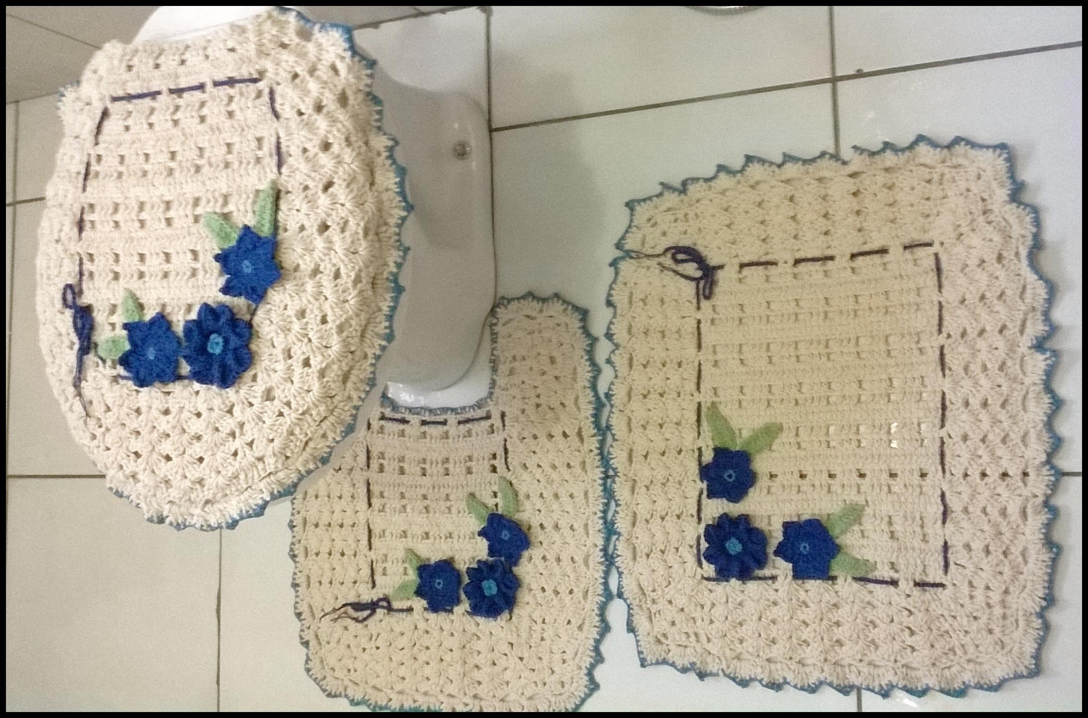 Flor Azul Tapete Jogo De Tapete Para Banheiro Flor Azul Banheiro Jogo  #1D396C 2194x1447 Banheiro Com Azul