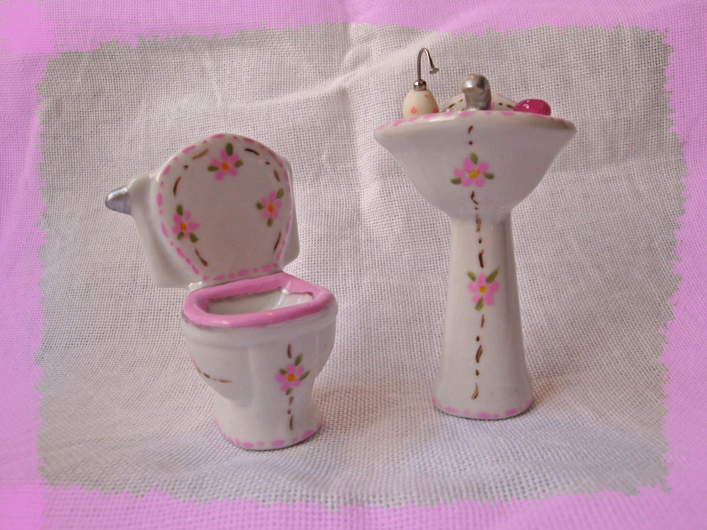 mini pecas de banheiro rosa branco cor de rosa #88435D 1417x1063 Banheiro Bege E Rosa