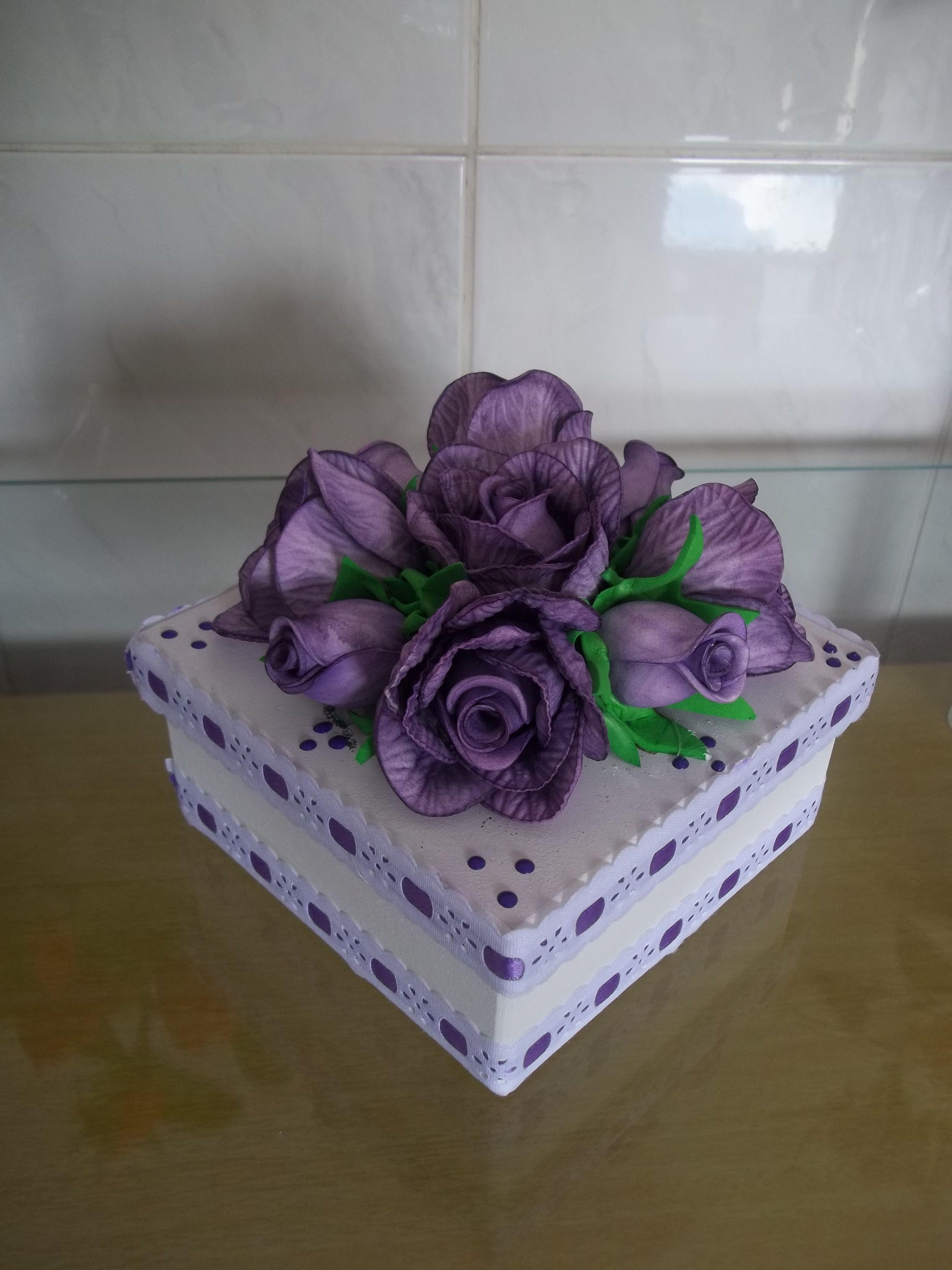 caixa decorada com flores em eva mdf caixa decorada com flores em eva  #277034 3216x4288