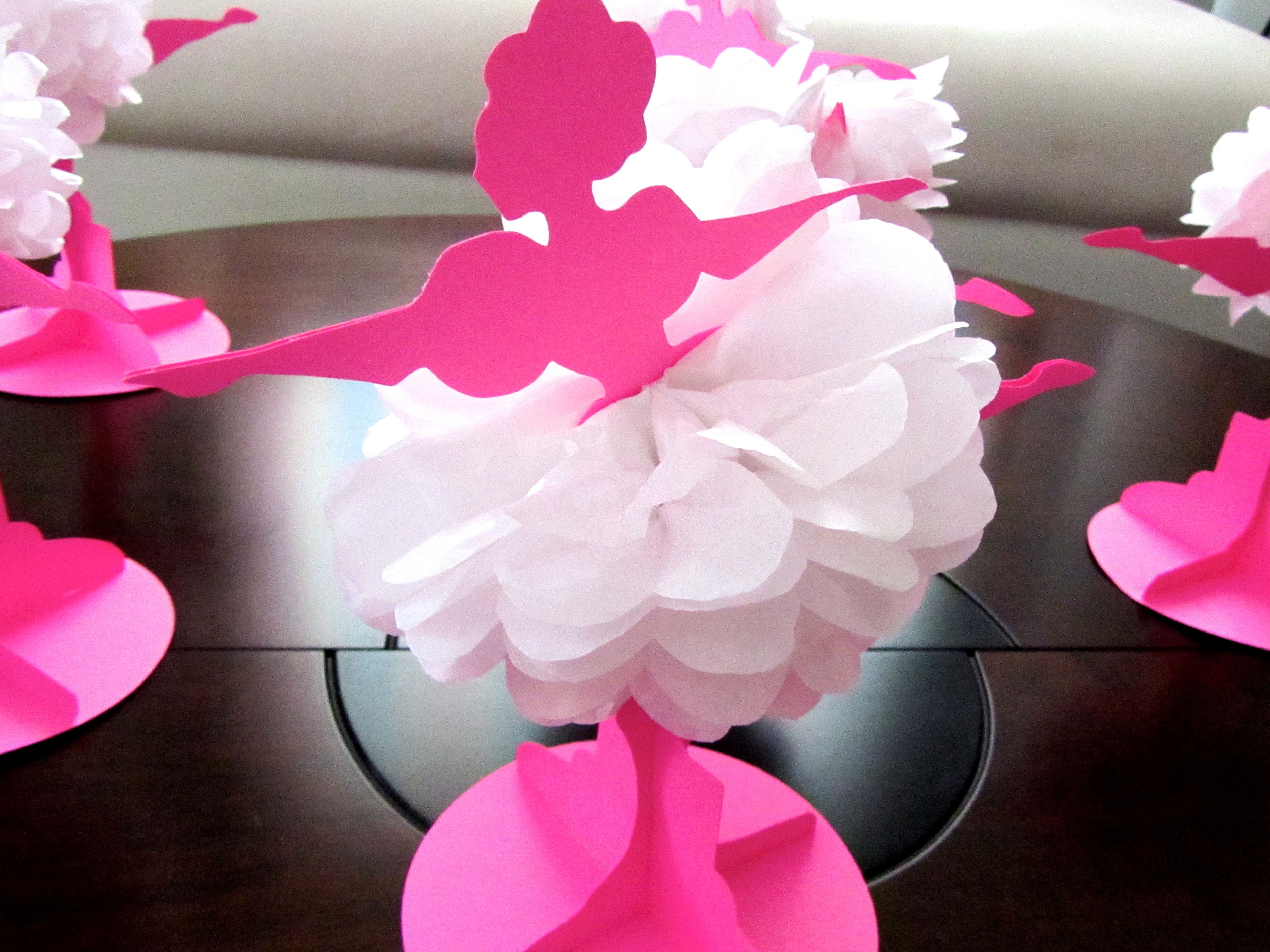 Centro de mesa con flores de papel de seda diy tissue - Centros de mesa de papel ...