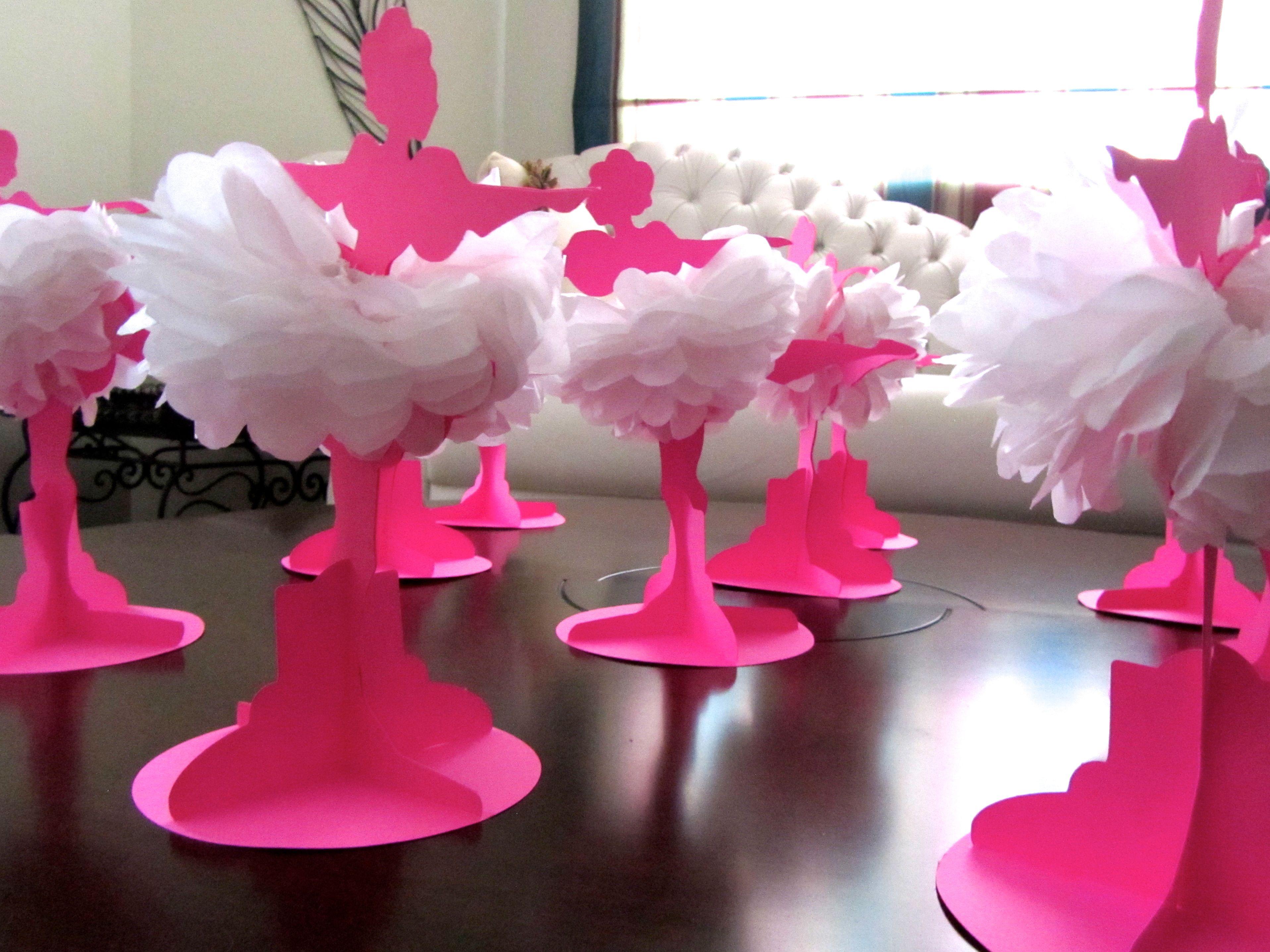 Centro de mesa bailarina xoxo by petit biju elo7 - Centros para mesa ...