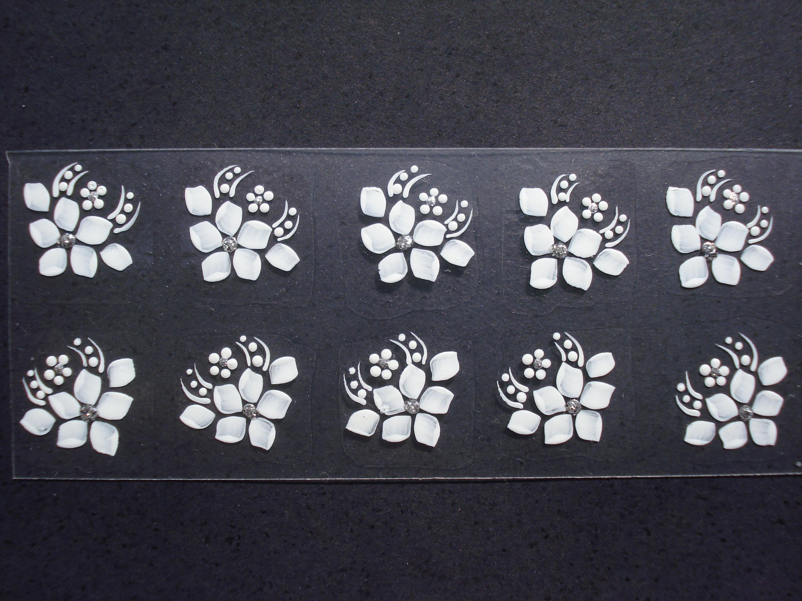 Armario Metal Com Chave ~ Adesivo Para Unhas Flor Aberta Z Artes Adesivos Artesanais Elo7