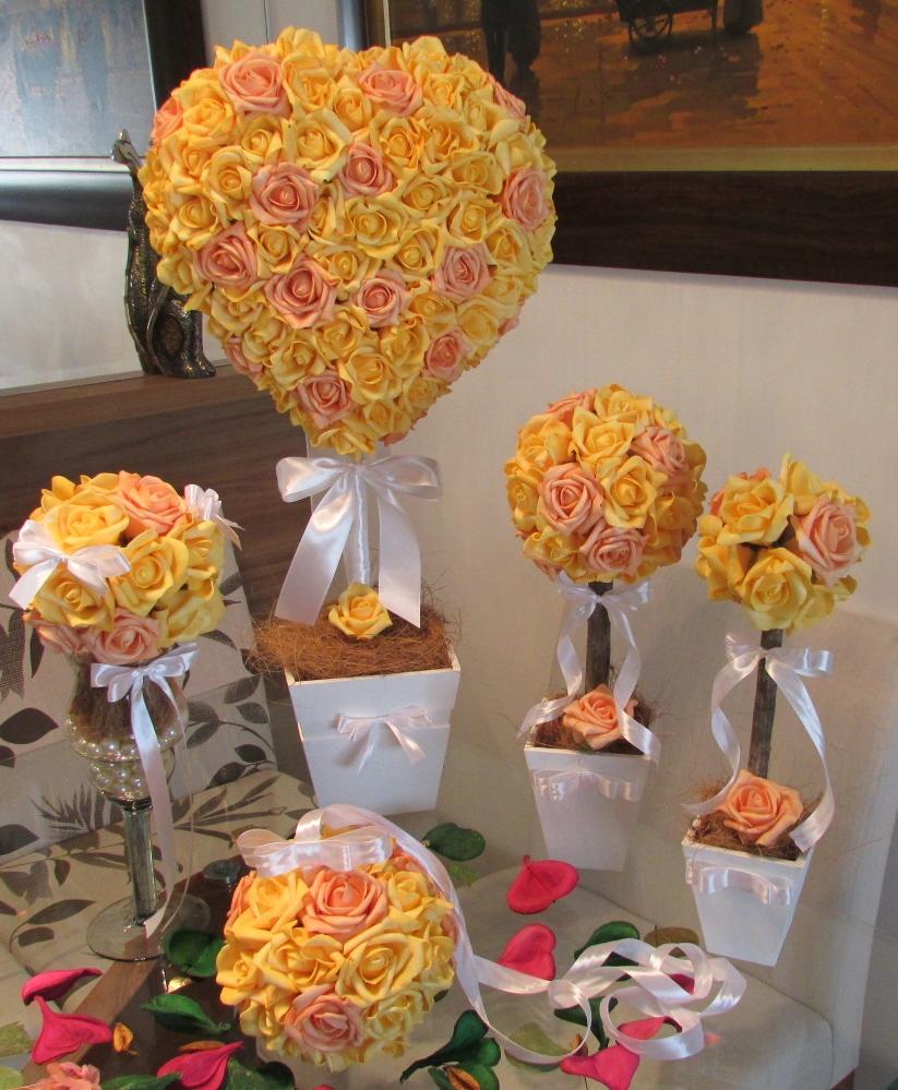 kit decoracao casamento : kit decoracao casamento:kit-decoracao-amarela-para-festas-vi-topiara kit-decoracao-amarela