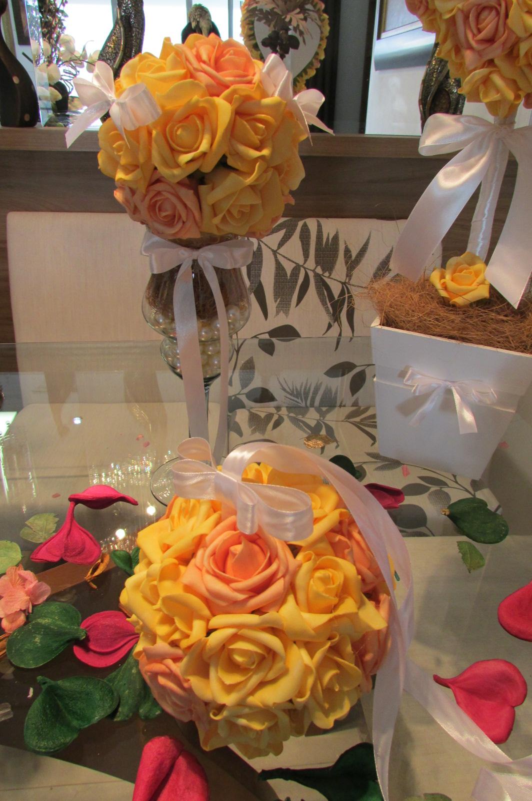 kit decoracao casamento:kit decoracao amarela para festas vi decoracao casamento kit decoracao