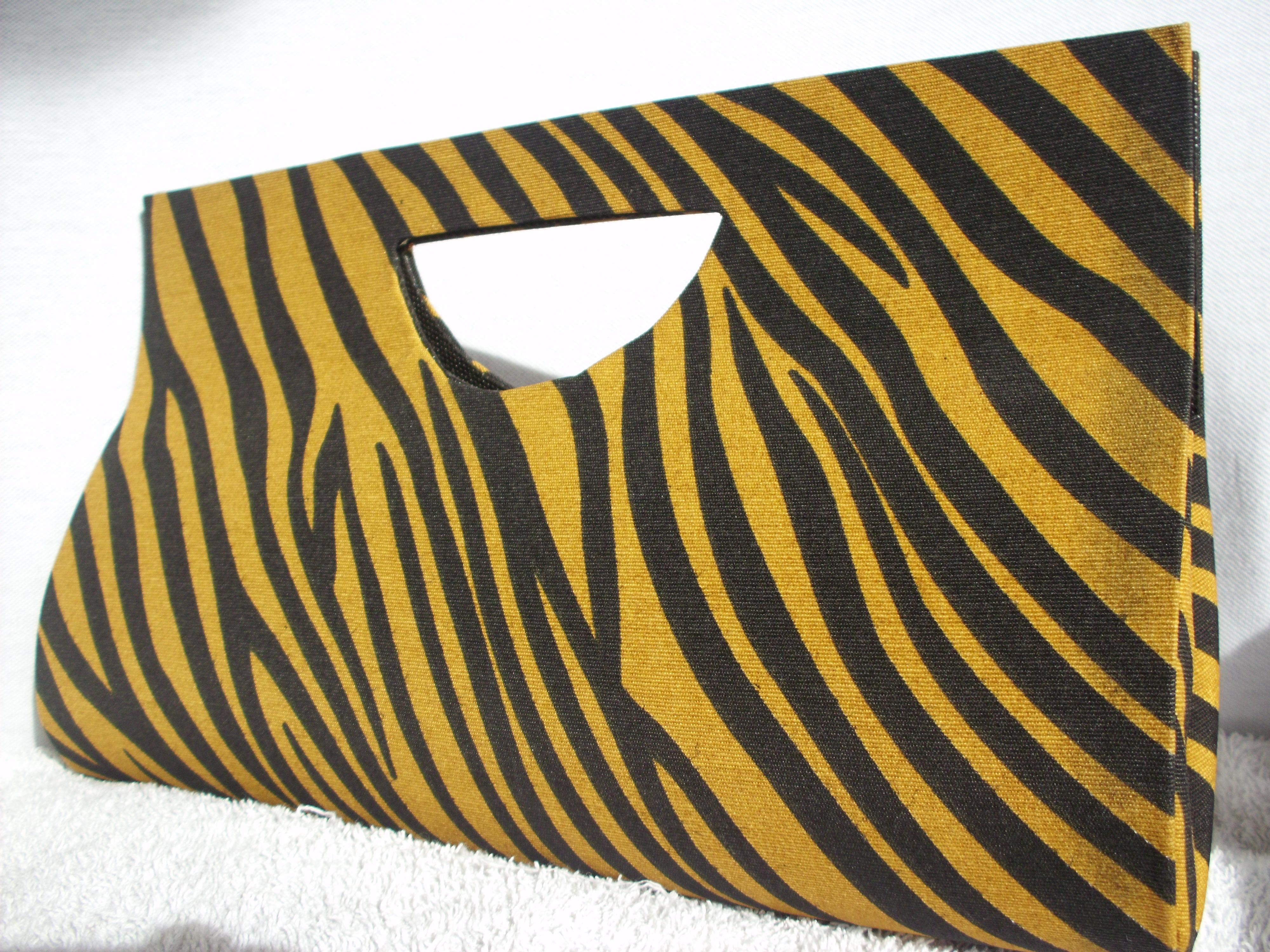 Bolsa De Mão De Juta : Bolsa de m?o tiger lemon elo