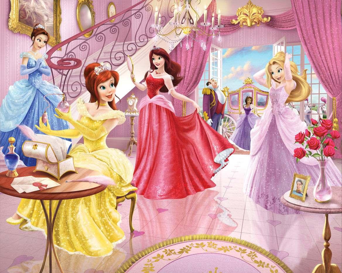 Princesas papel de parede  Central do Adesivo  Elo7