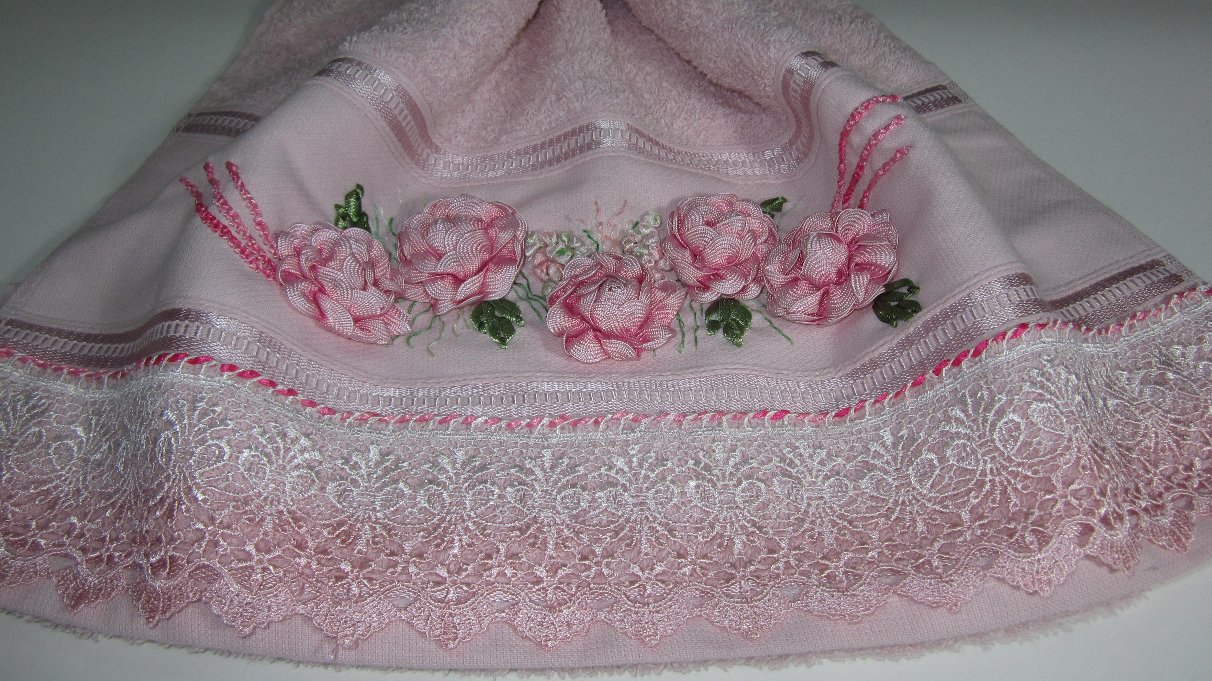 sianinha toalha toalha bordada com flores de sianinha sianinha toalha