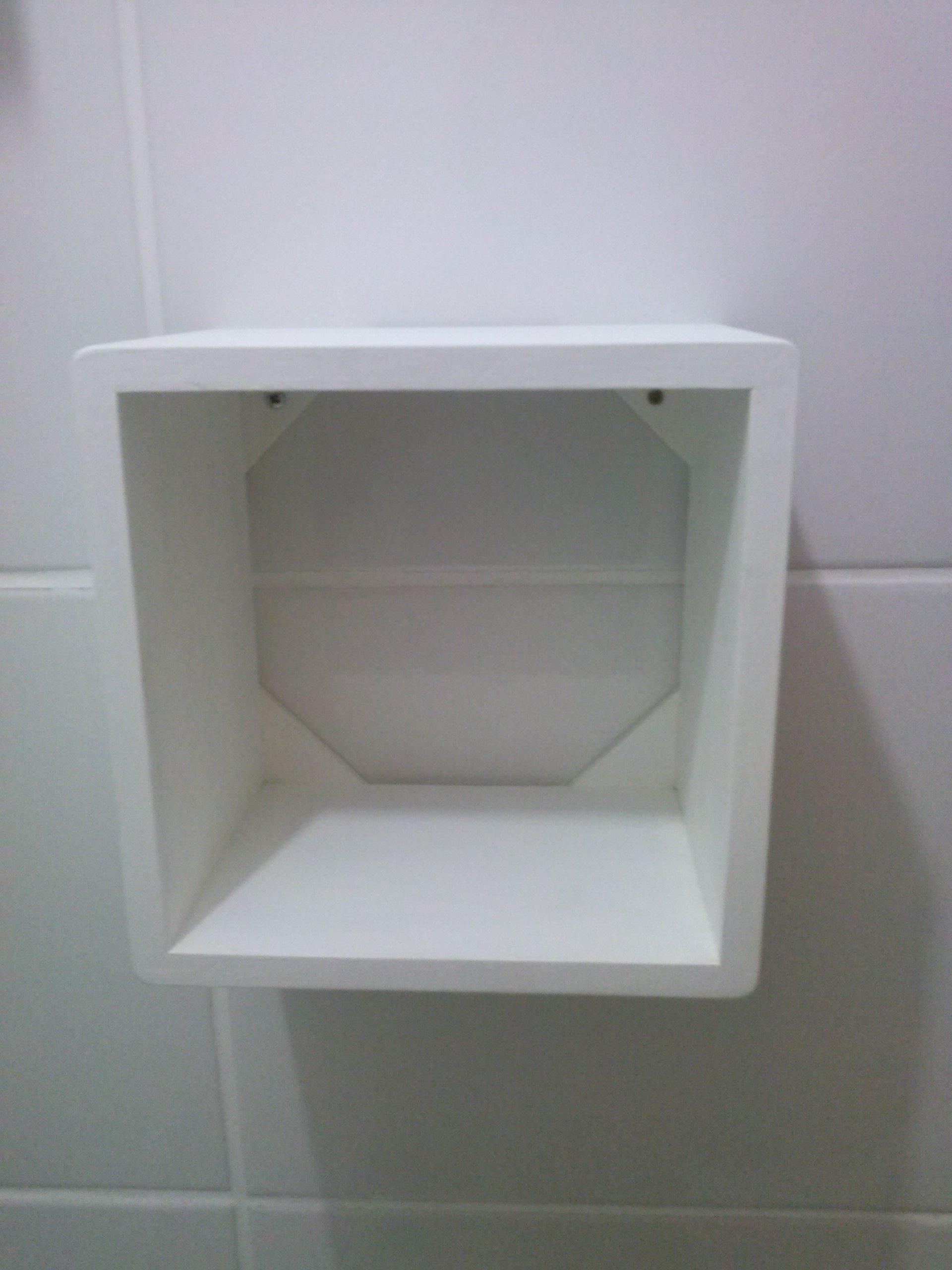 Nichos MDF 20cm  Teca e filha Artes  Elo7 -> Nicho Para Banheiro Pronto