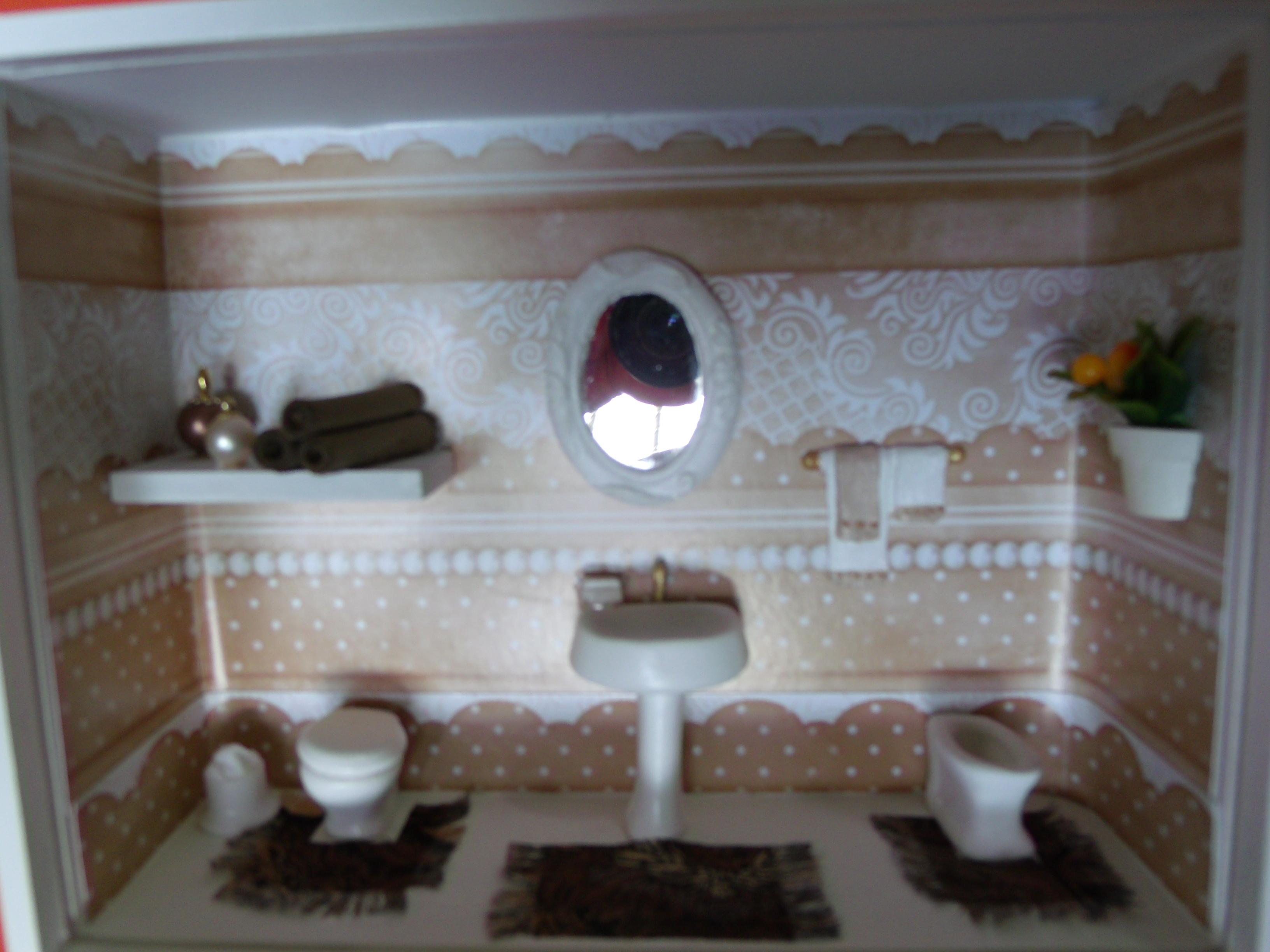 Nicho de banheiro nº 5  Dyara Decorações  Elo7 -> Nichos Para Banheiro Artesanal