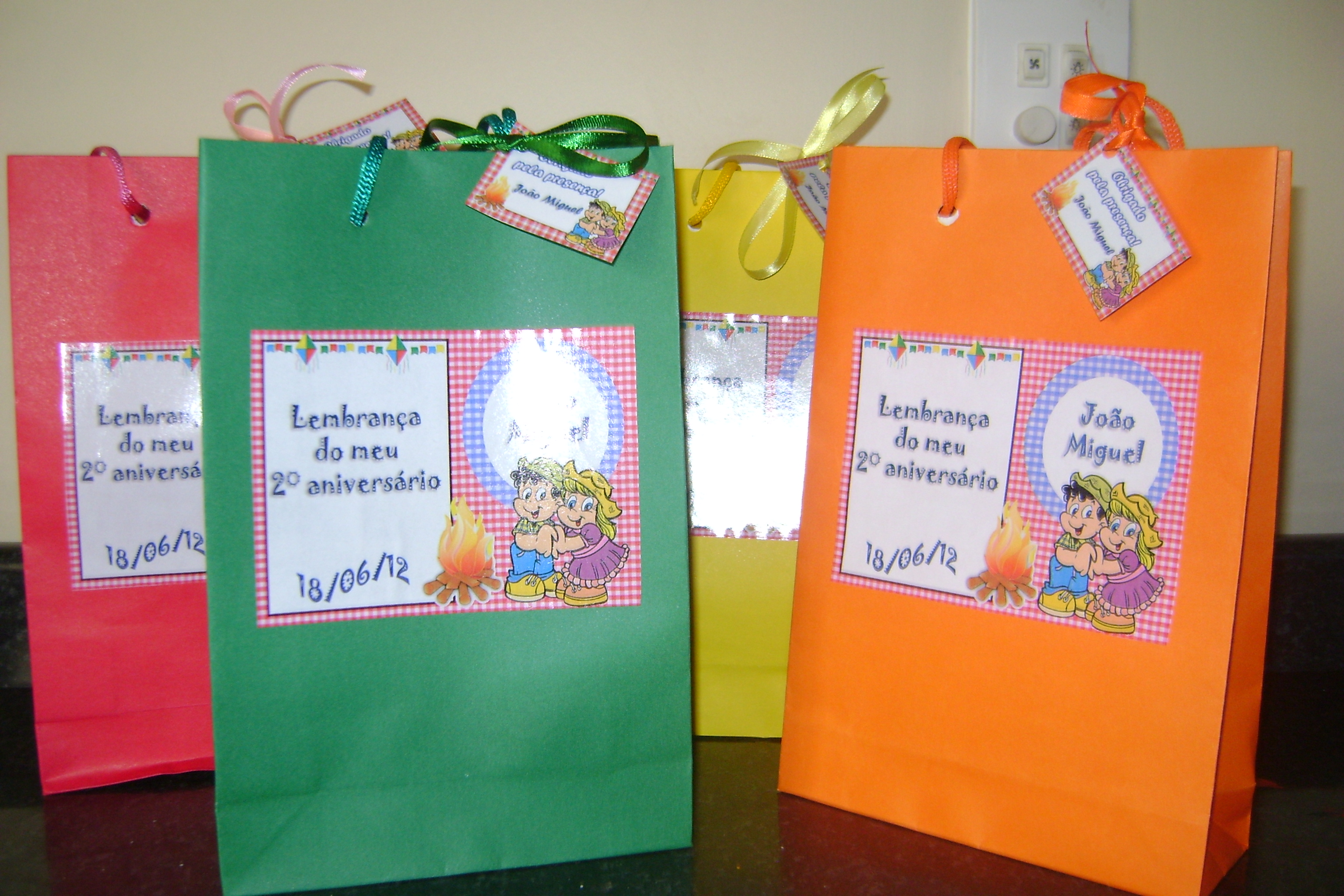 Bolsa De Festa Infantil : Bolsa personalizada festa junina taty by festas e