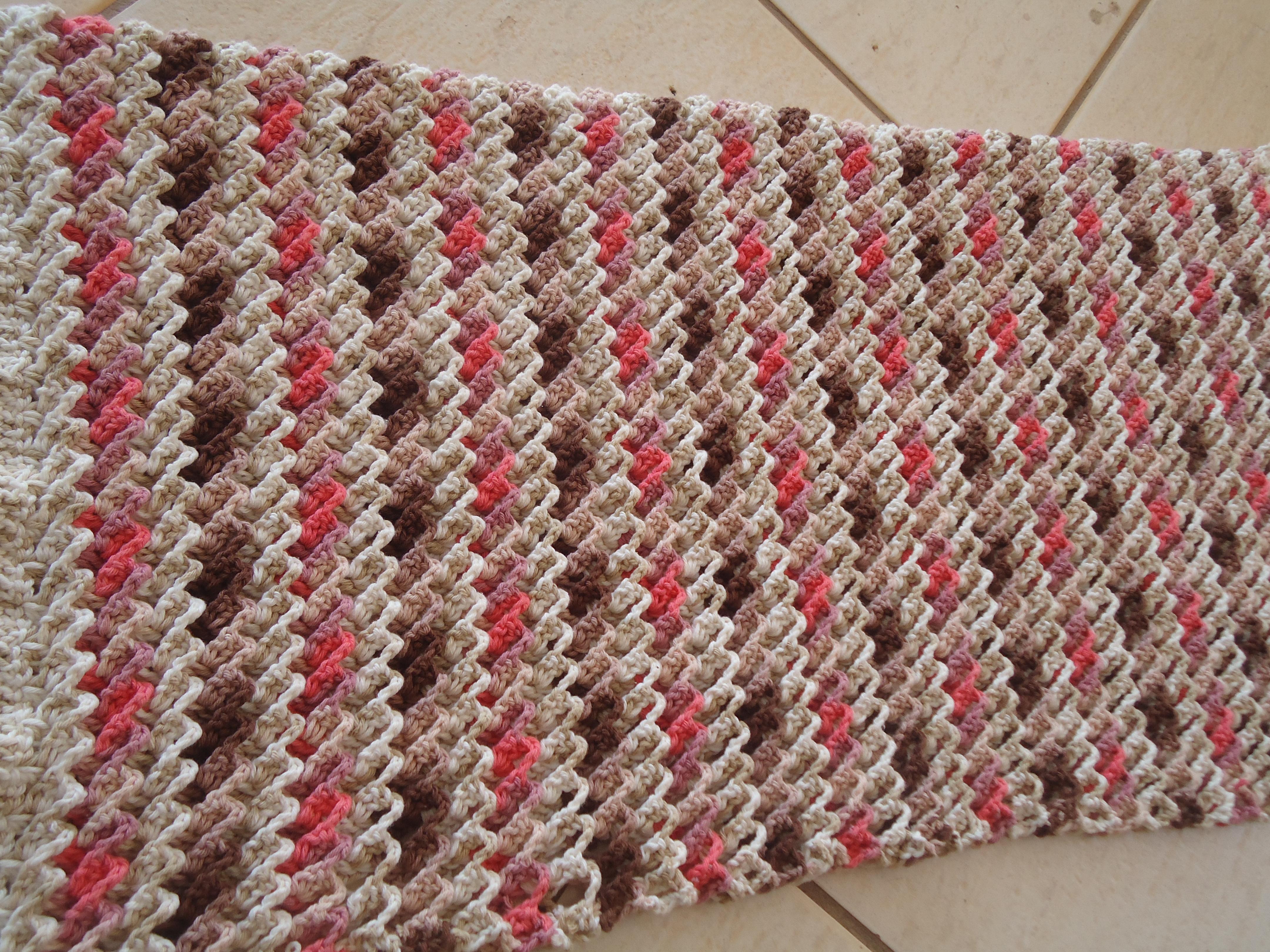 tapete de barbante 3d crochet no ponto elo7. Black Bedroom Furniture Sets. Home Design Ideas