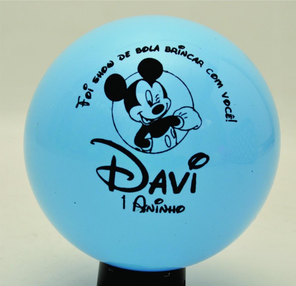 Kit de 20 bolas personalizadas dani brindes elo7 for Bolas para piscina de bolas