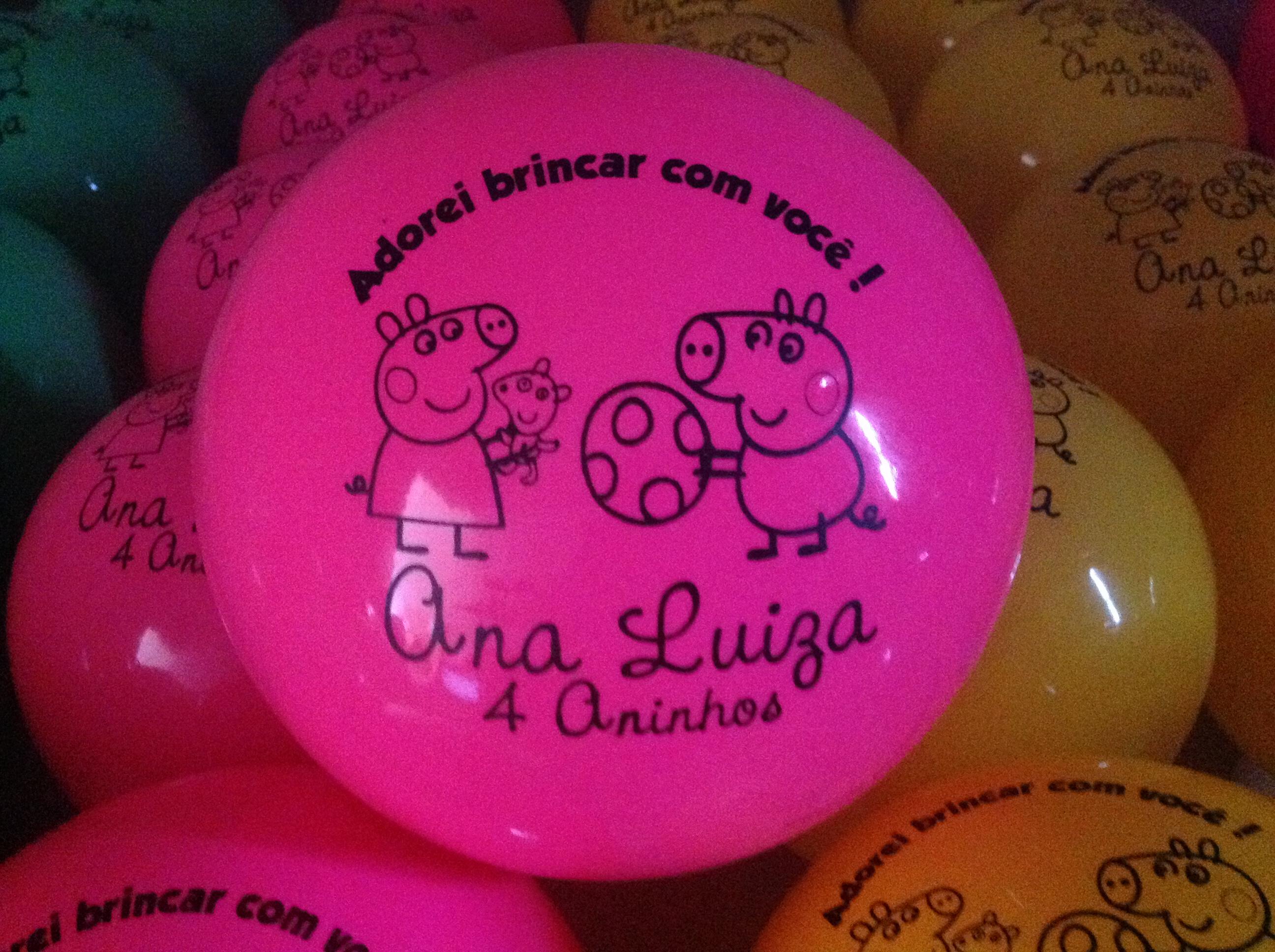 Kit de 100 bolas personalizadas dani brindes elo7 - Bolas de cristal personalizadas ...