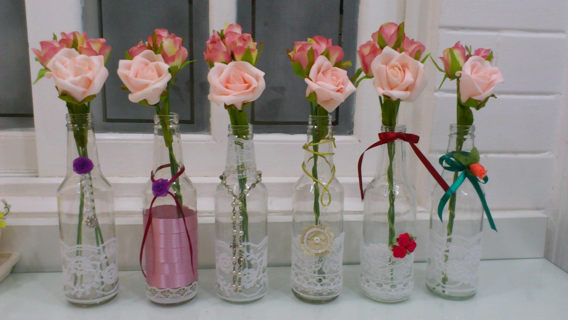 Garrafas decoradas Oficina da Lolli Elo7 #7B3B34 1920x1080