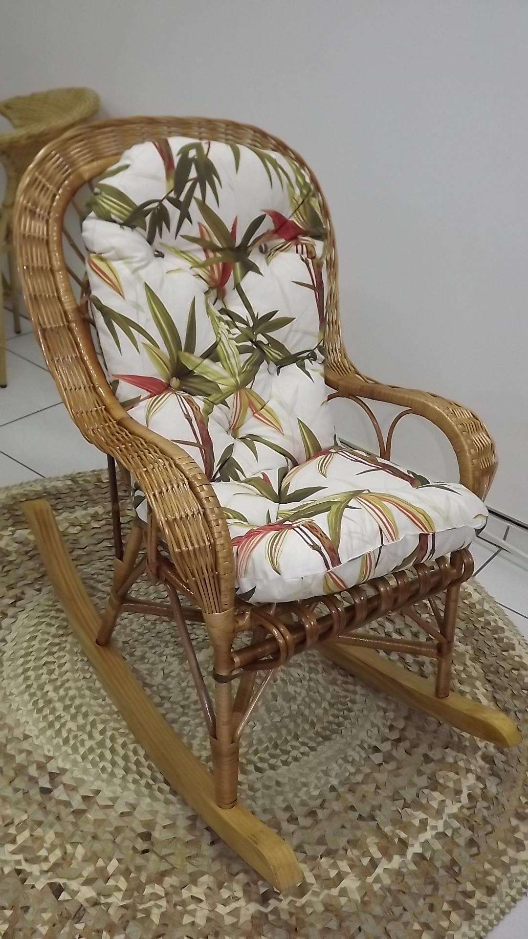 Cadeira de Balanço em Vime c/ Almofada Cadeira de Balanço em Vime c  #473523 1080x1920