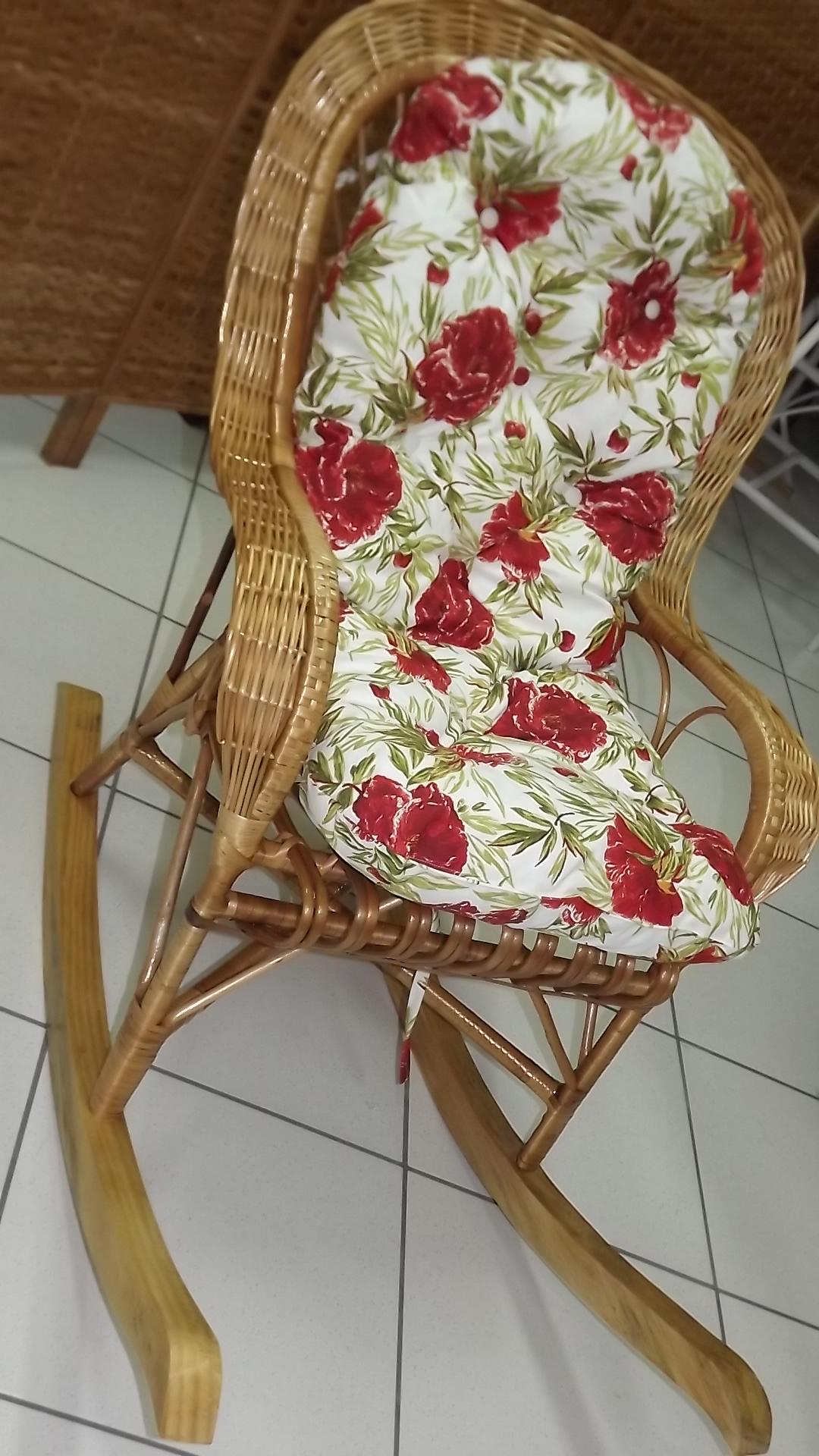 Almofada Cadeira de Balanço em Vime c/ Almofada Cadeira de Balanço #482E19 1080x1920