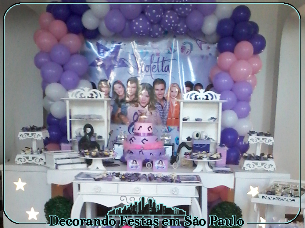 decoracao festa violeta:decoracao-clean-provencal-violetta-decoracao-de-festa-clean-da