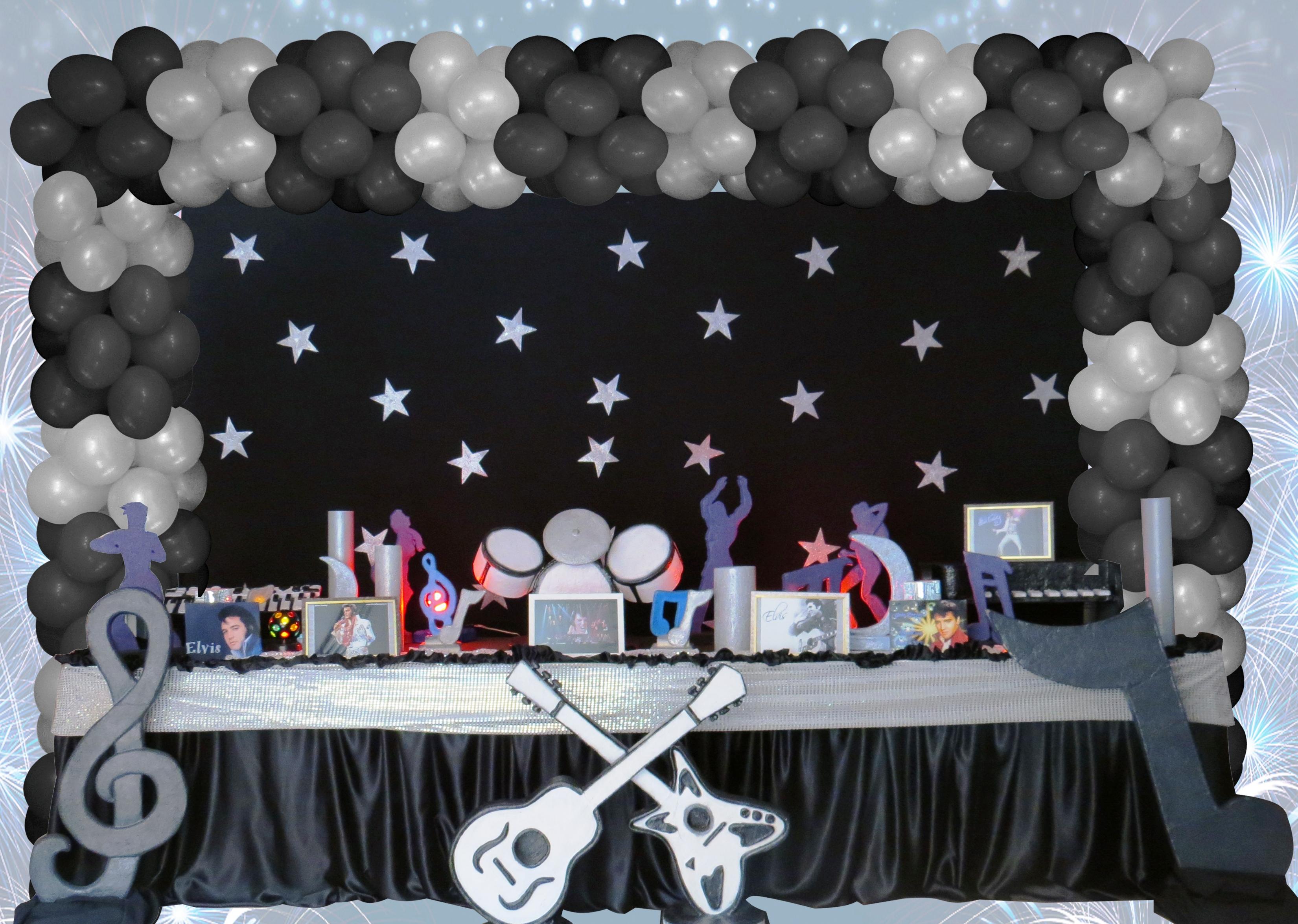 decoracao festa balada infantil:decoracao-infantil-anos-0-elvis-praise