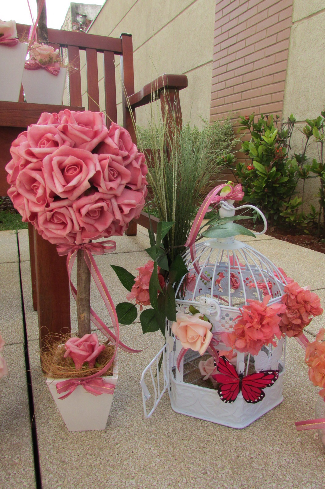 festa jardim encantado decoracao provencal:festa jardim encantado rosa e pink i mini casamento kit festa jardim