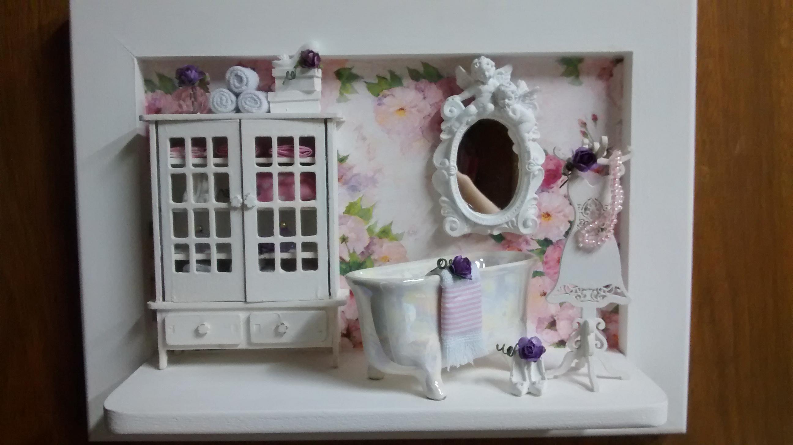 Cenário Banheiro Lady Luxo Atelier by Dreams Elo7 #5E3C22 2592 1456