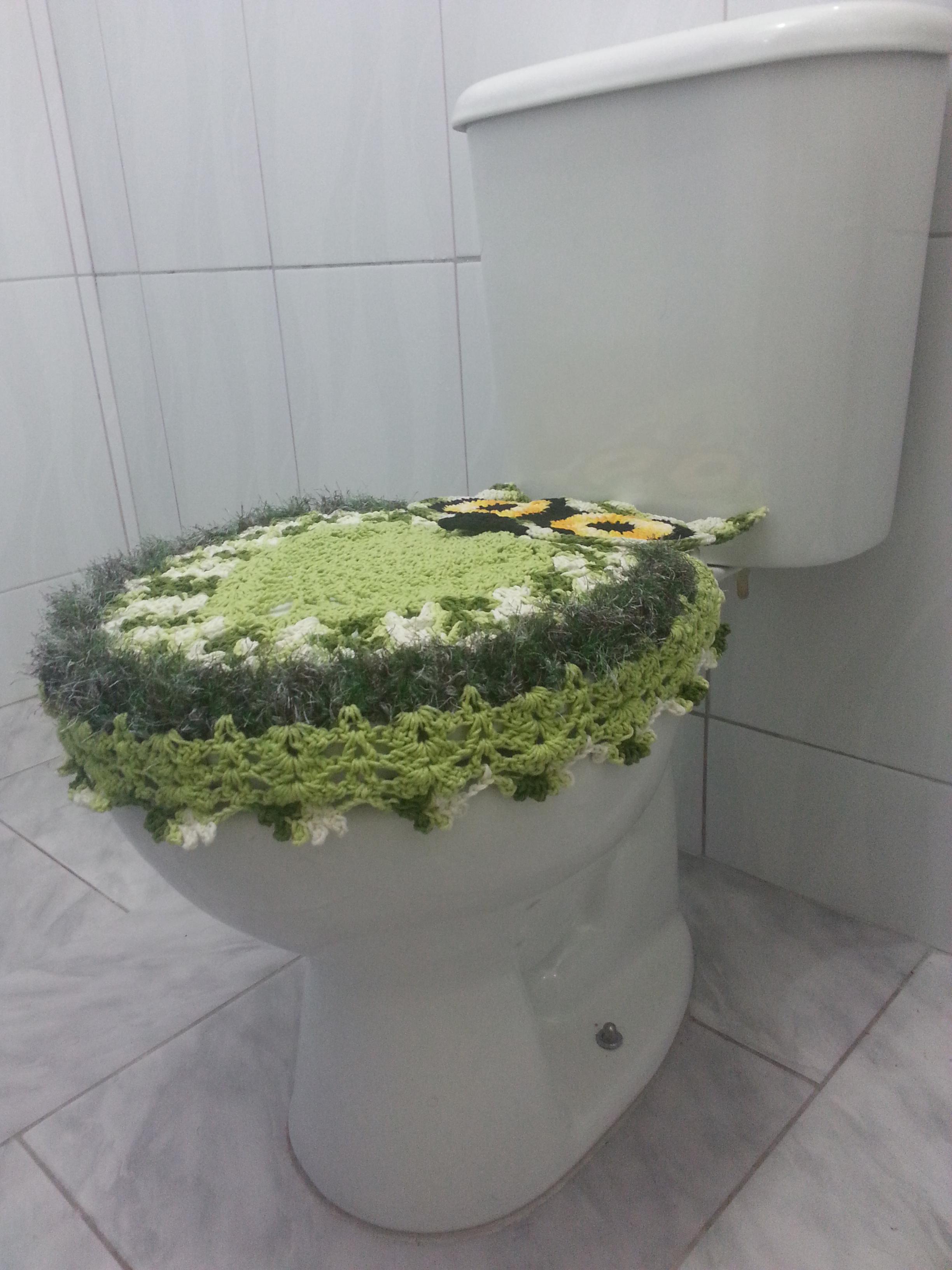 jogo de banheiro coruja verde jogo de banheiro em croche.jpg #798348 2448x3264 Banheiro Branco Com Verde