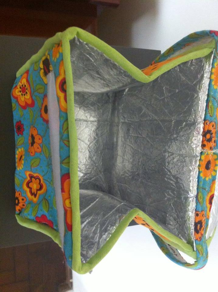 Bolsa Lancheira De Tecido : Lancheira t?rmica de tecido coisas da neuza elo