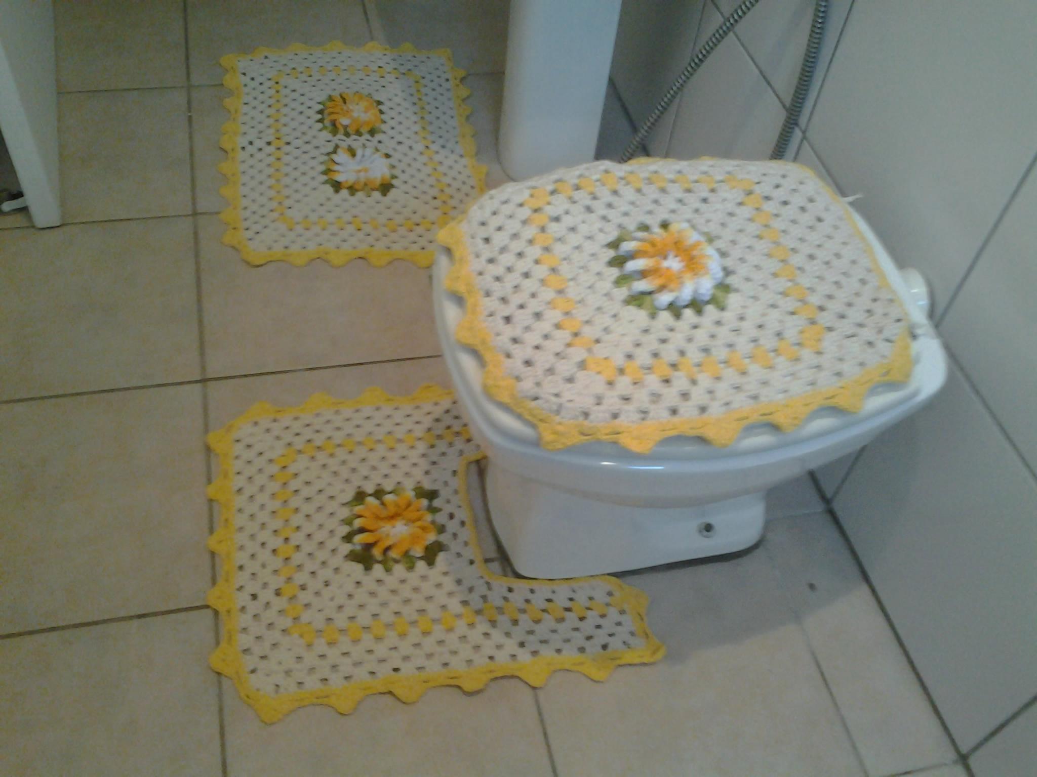 Jogo De Banheiro Quadrado Simples : Jogo de banheiro quadrado cooperativa do croche elo