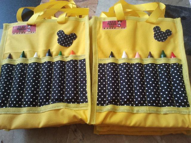 Bolsa Para Lapis Em Tecido : Bolsa de tecido com porta l?pis tania art`s elo
