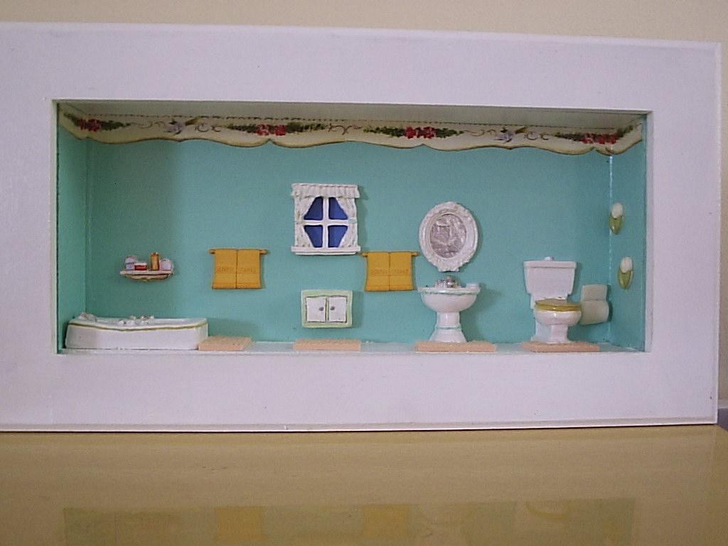 banheiro verde agua quadrinho para banheiro #806B48 1024x768 Banheiro Com Decoração Verde
