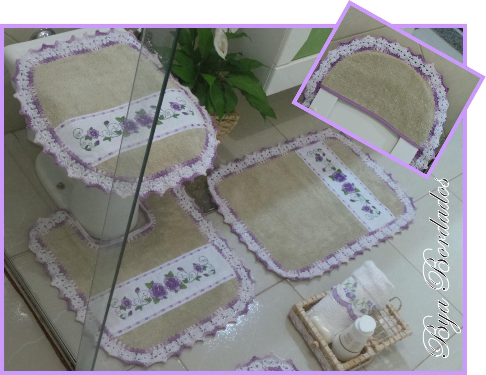 banheiro atoalhado 3 pecas piso de banheiro jogo tapete banheiro  #6A0FBC 1563 1207