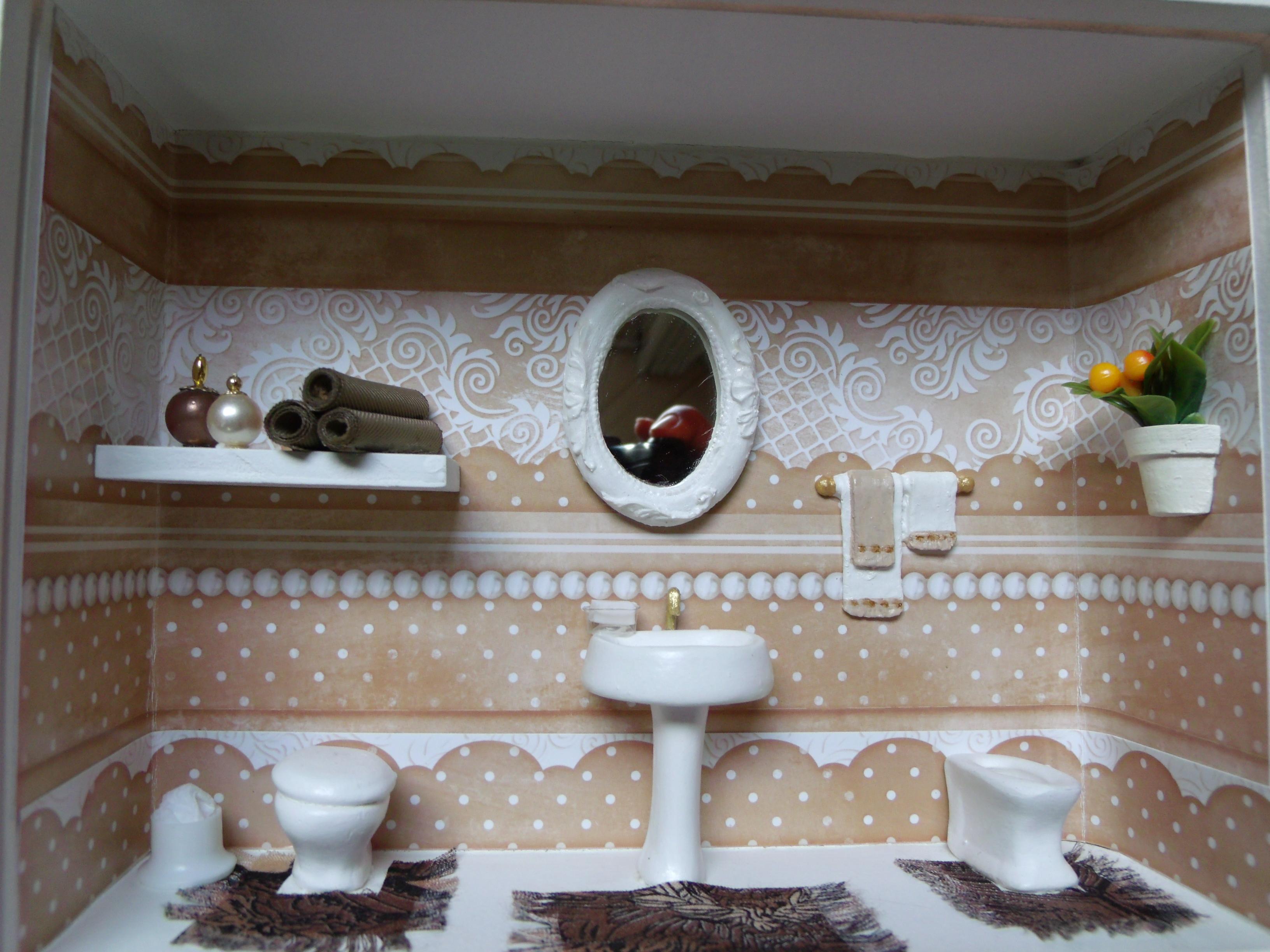 Nicho de banheiro nº 7  Dyara Decorações  Elo7 -> Nichos Mdf Banheiro