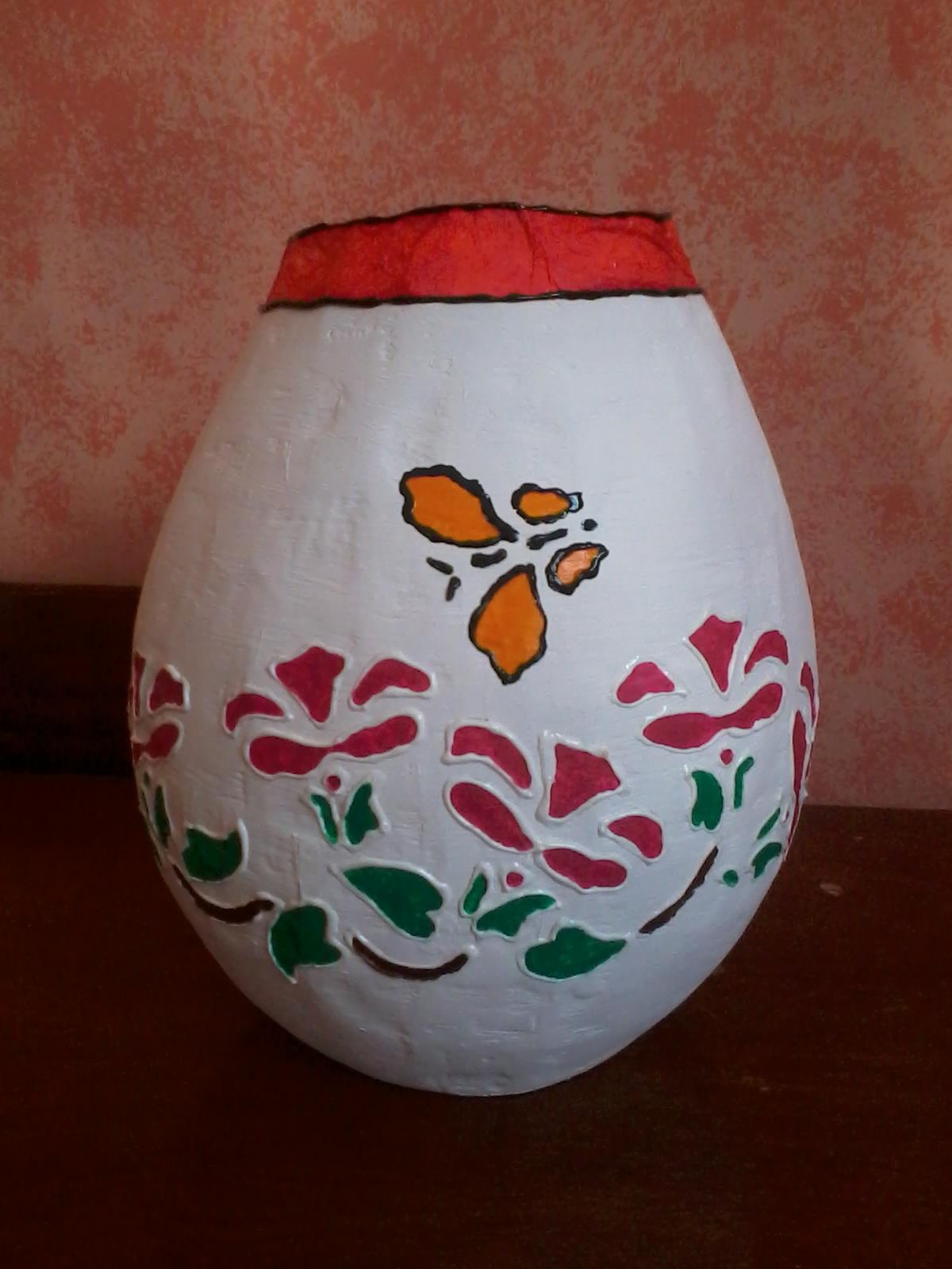 Adesivo Para Box De Banheiro ~ Vaso artesanal jardim Ateli u00ea Feitoà m u00e3o Elo7
