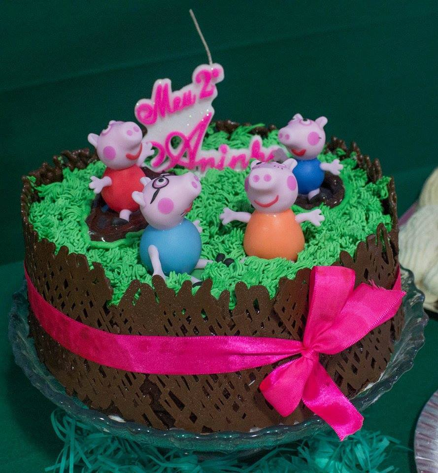 Enfeite De Bolo ~ Família Peppa Pig enfeite de bolo Biscuit na Festa Elo7