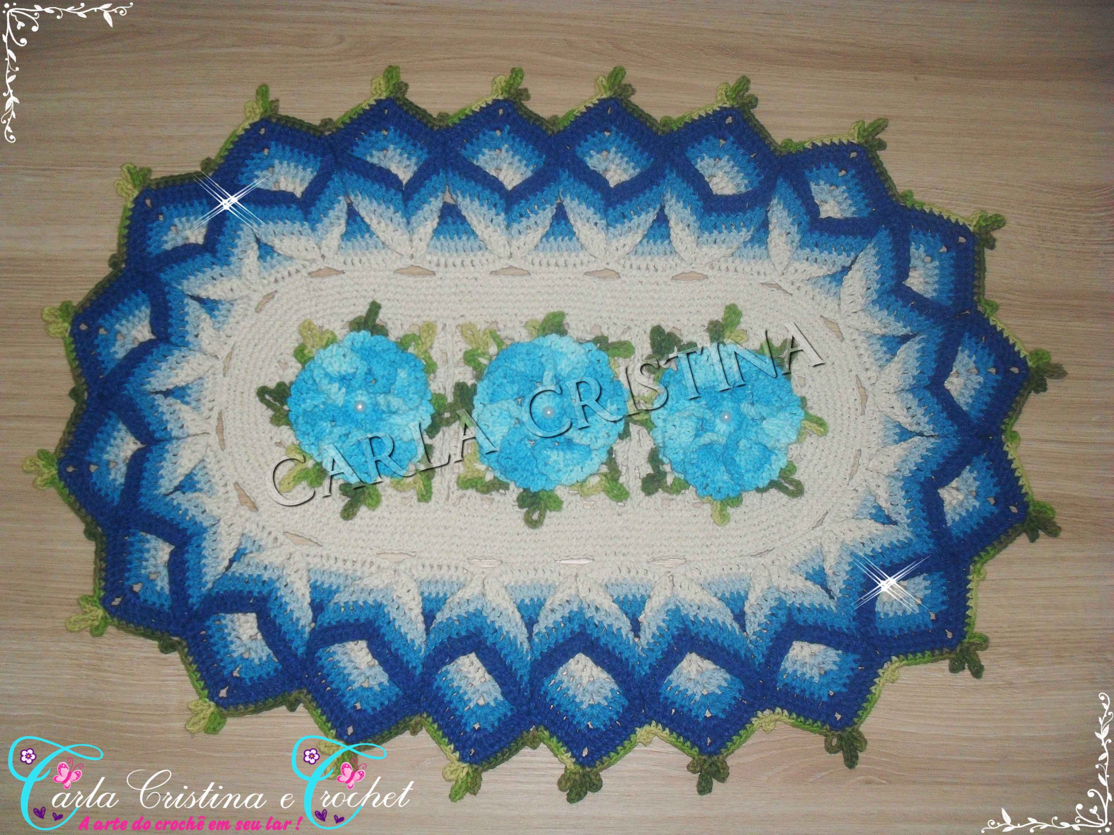 Coloridos tapetes de crochet car interior design for Tapetes de crochet