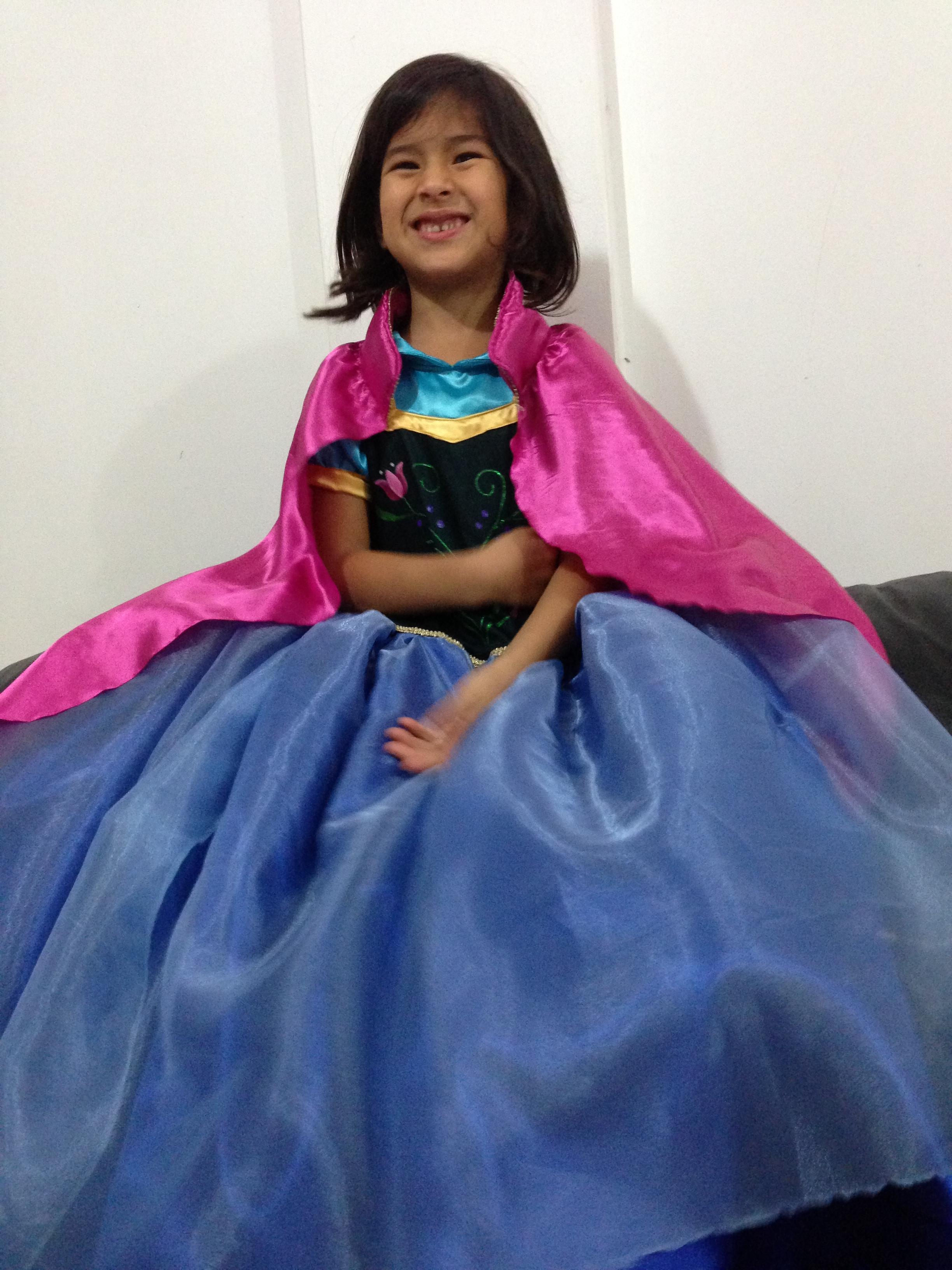 ana frozen vestido longo fantasia frozen princesa ana frozen vestido