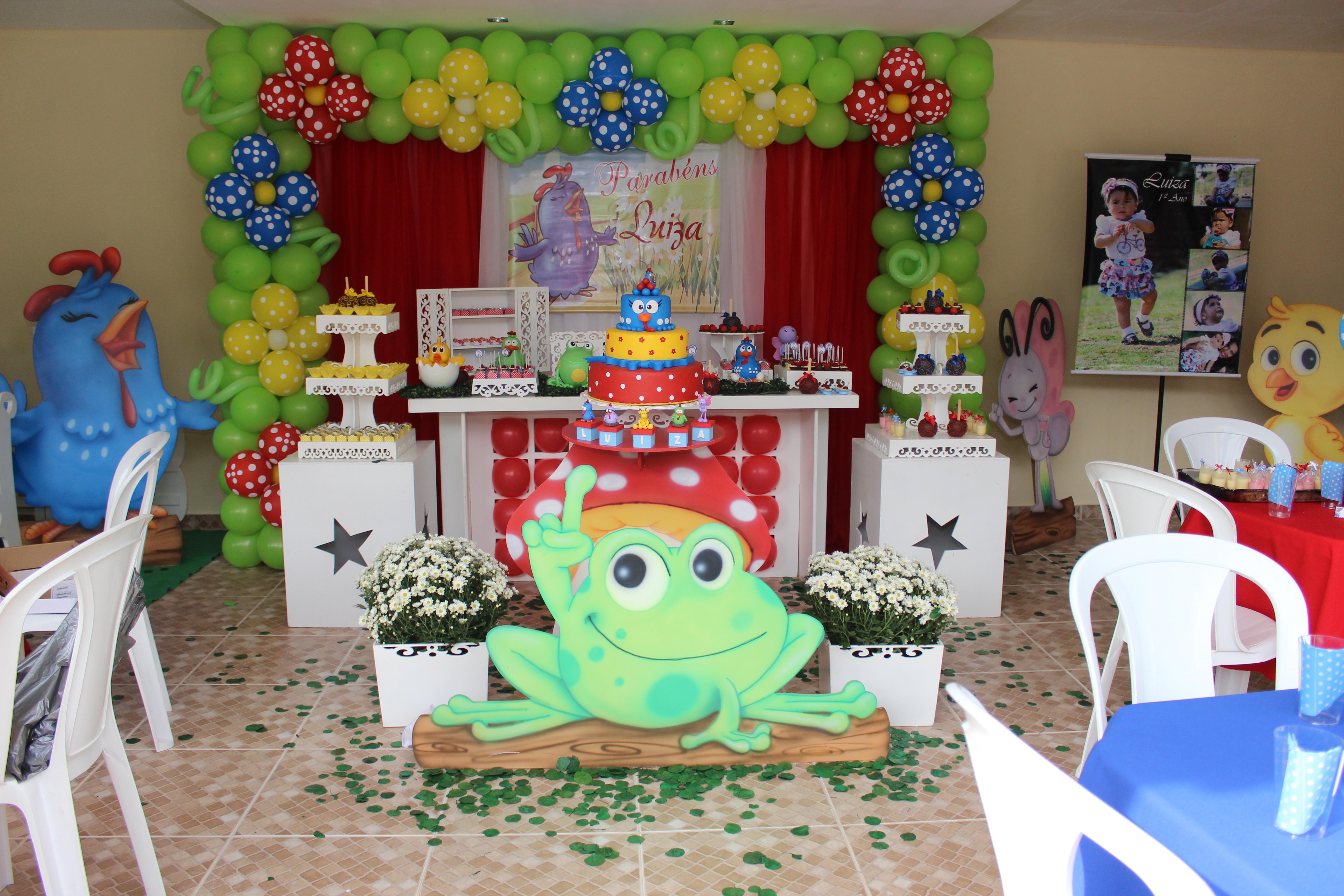 decoracao festa surpresa : decoracao festa surpresa:Decoração festa Galinha Pintadinha