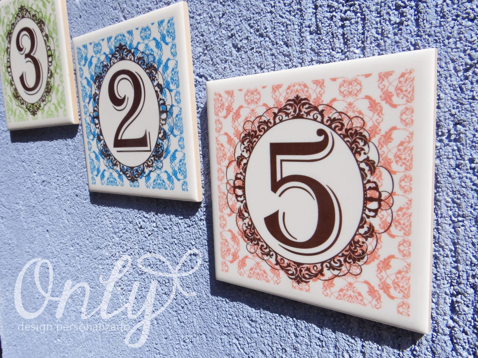 Azulejo n mero de casa scene personalizados elo7 for Azulejo numero casa