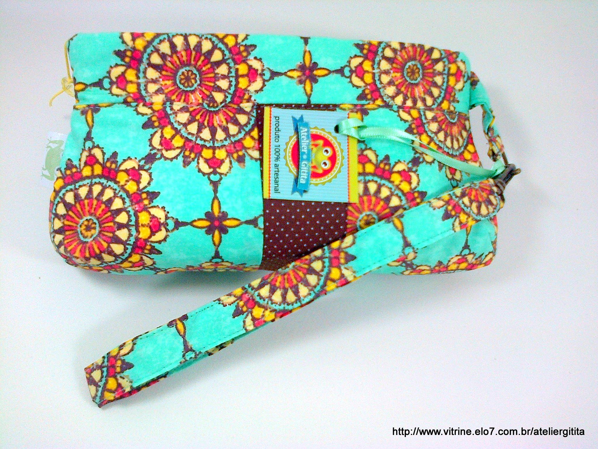 Bolsa De Mao Turquesa : Carteira anne turquesa atelier gitita elo