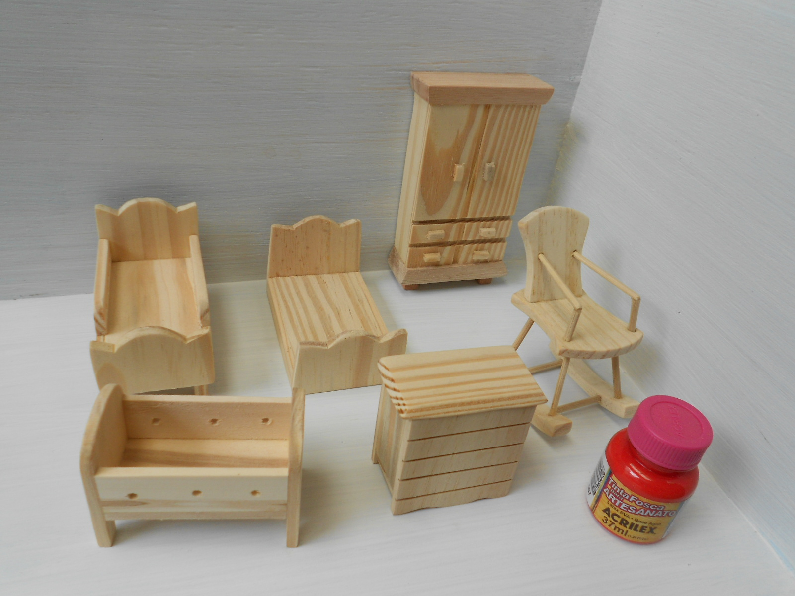kit moveis miniaturas quarto pecas mini ambientes kit moveis  #9A314F 1600x1200