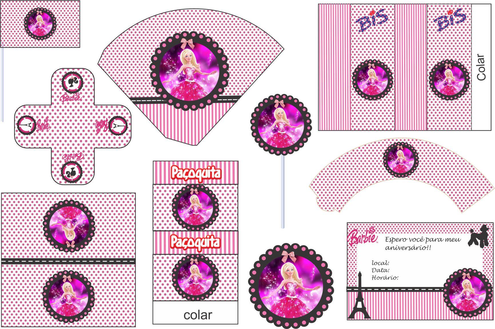 Kit Digital Barbie Moda E Magia