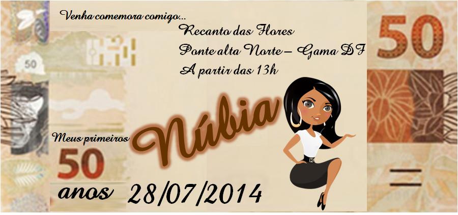 Convite de Aniversario 50 Anos Feminino Convite Para Aniversário 50