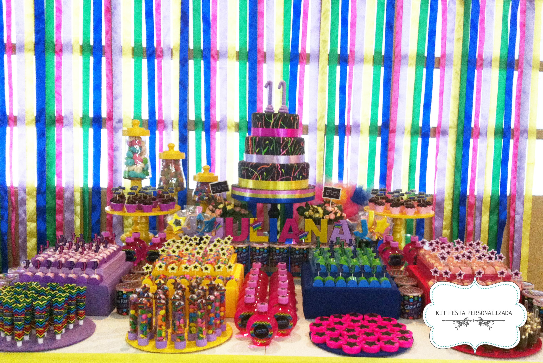 decoracao festa glow:festa glow festa neon festa personalizada festa glow festa neon