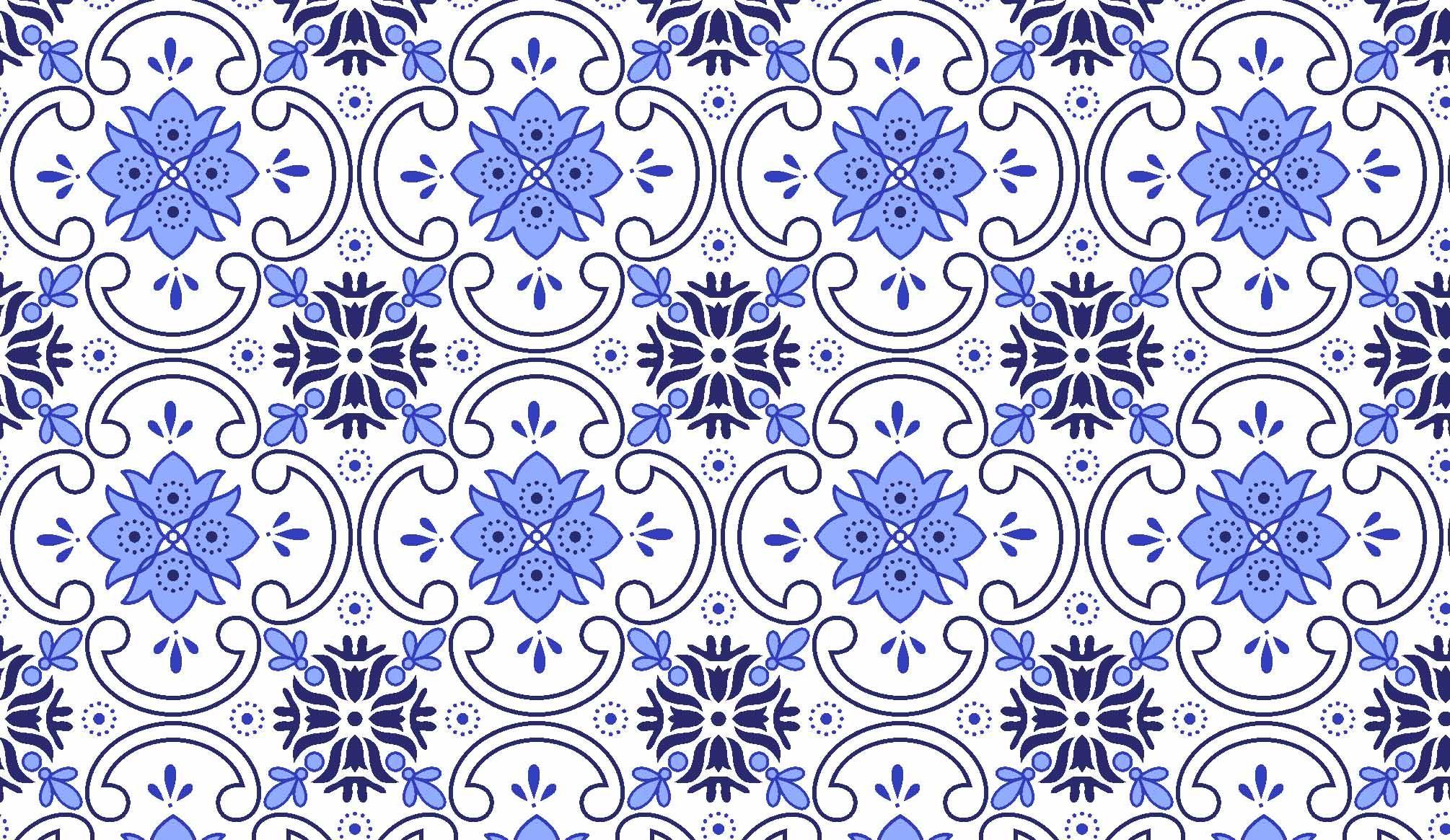 tc333 tecido azulejo azul azulejo #0939C2 2010x1165 Banheiro Com Azulejo Azul E Branco