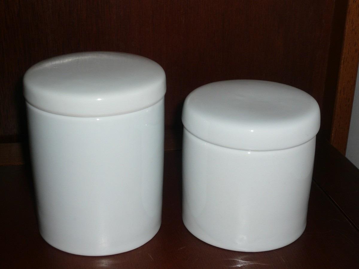 Potes para kit higiene em porcelana Chaim Jorge & Cia Elo7 #22100A 1200 900