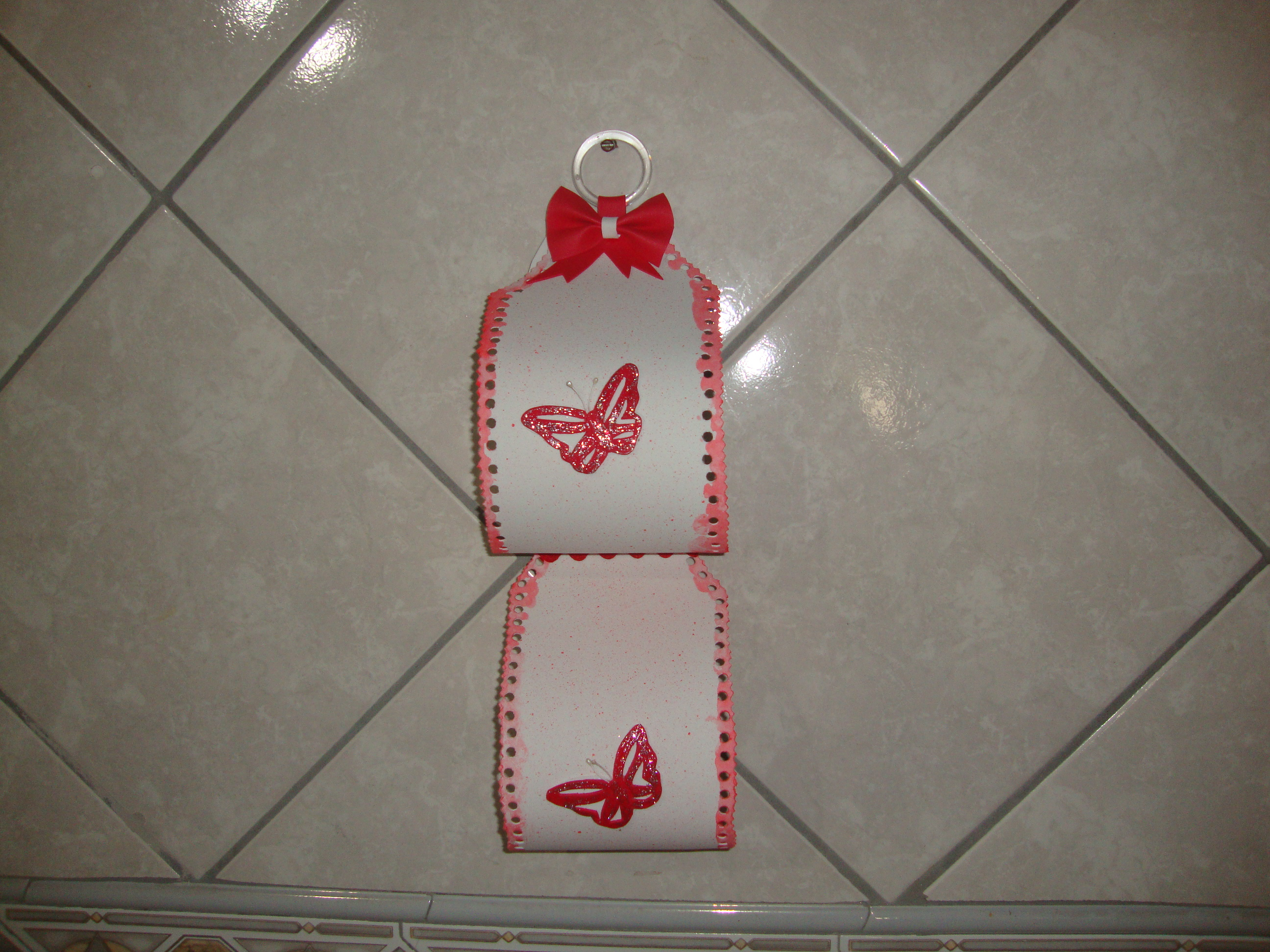 decoracao banheiro papel higienico:Porta papel higienico feito de eva #95363B 2592 1944