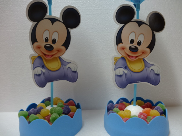 Centro de mesa do Mickey Baby | Buum Balloon | Elo7