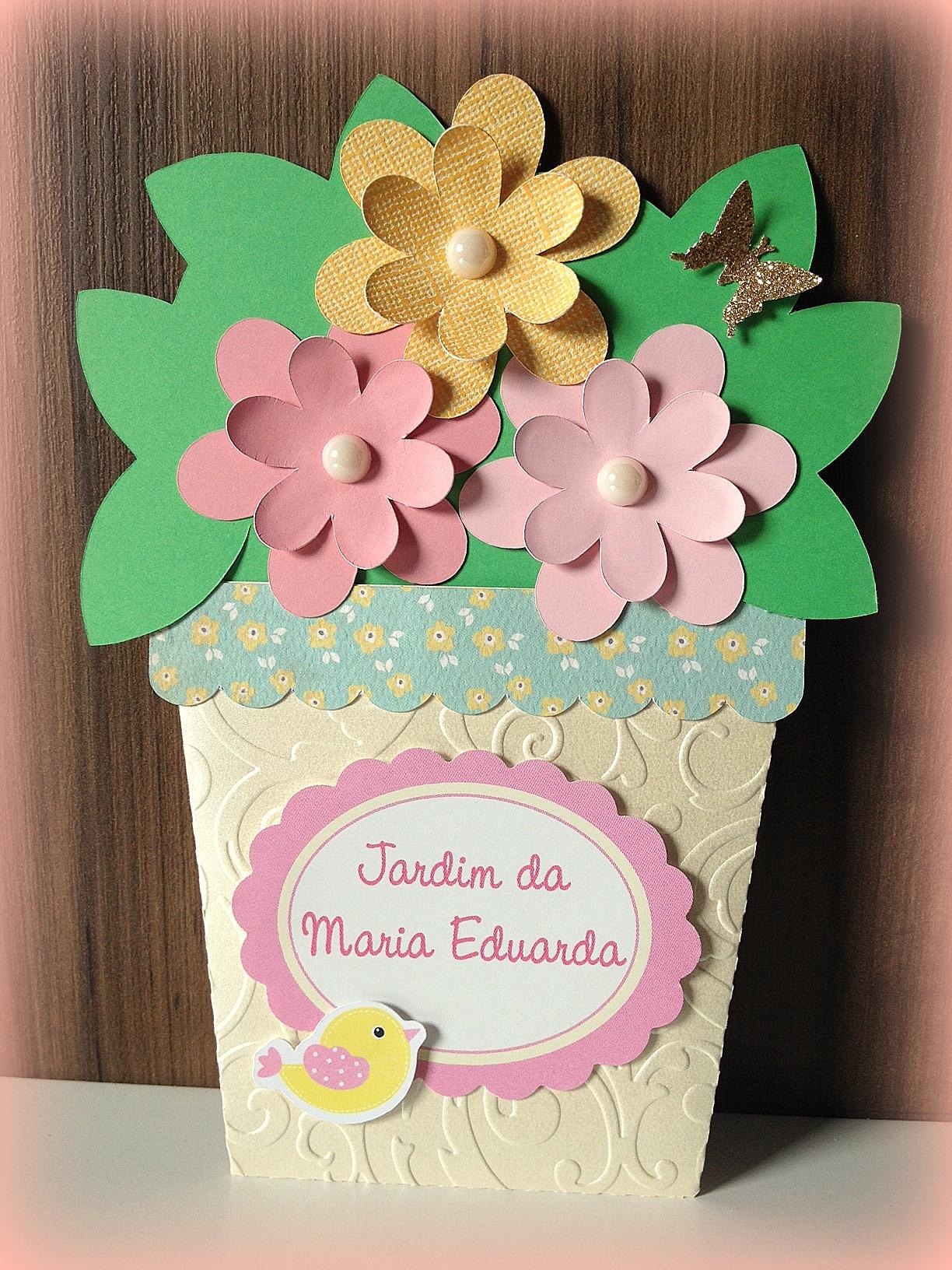 festa jardim convite : festa jardim convite: convite vasinho flores convite jardim de flores convite jardim convite