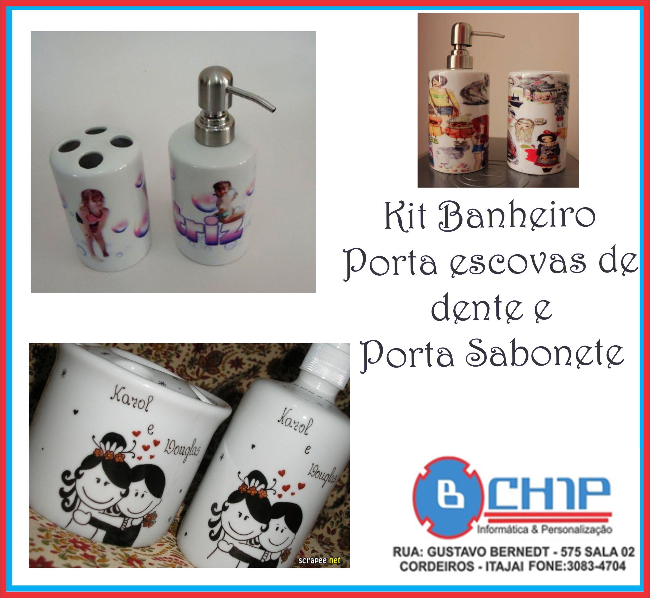 Kit Banheiro em Porcelana Bchip Informática & Personalização #0A8DC1 2496x2295 Acessorios Banheiro Leroy