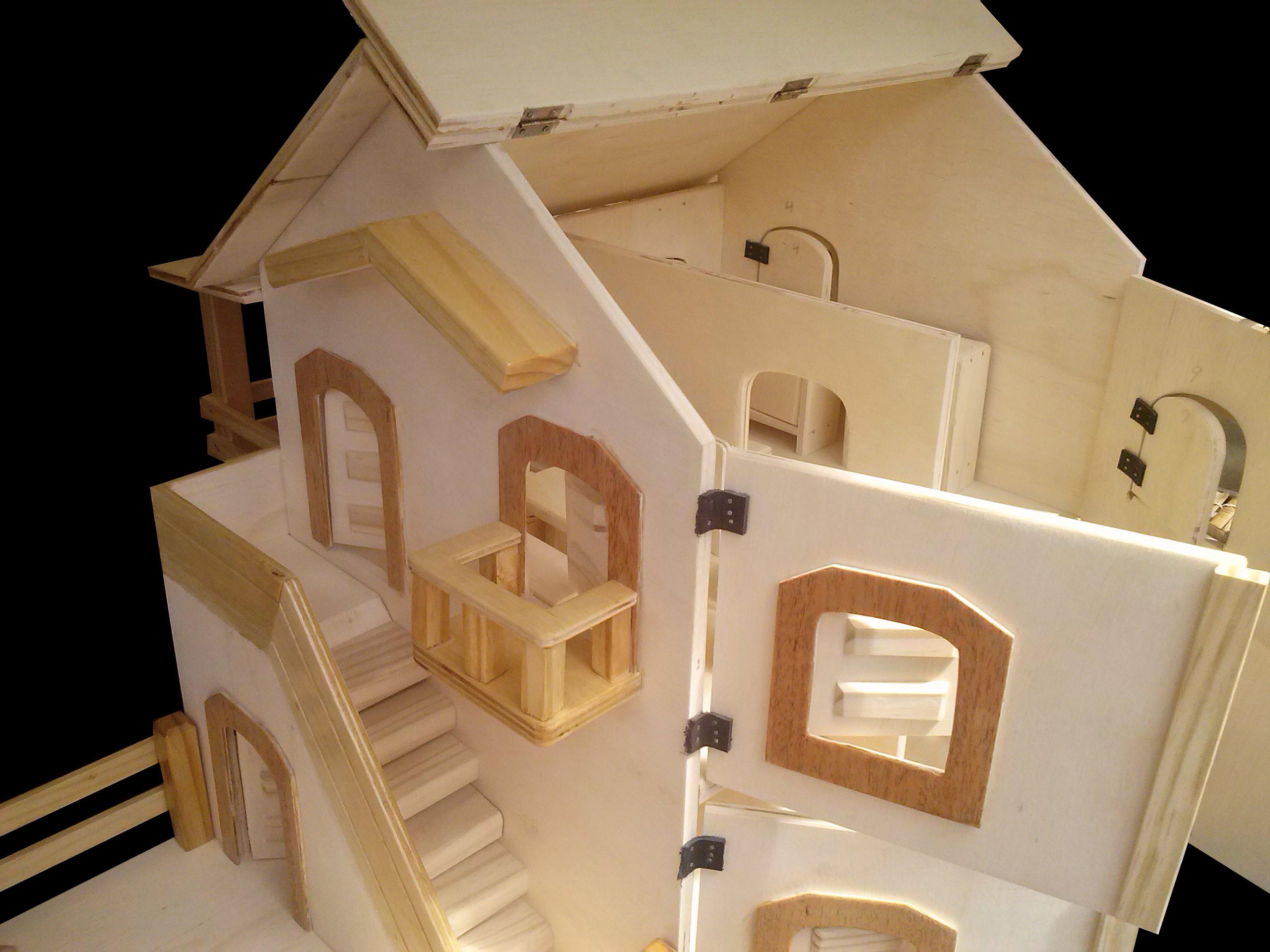 casinha de boneca com moveis em madeira casa de bonecas #B67D15 2560x1920